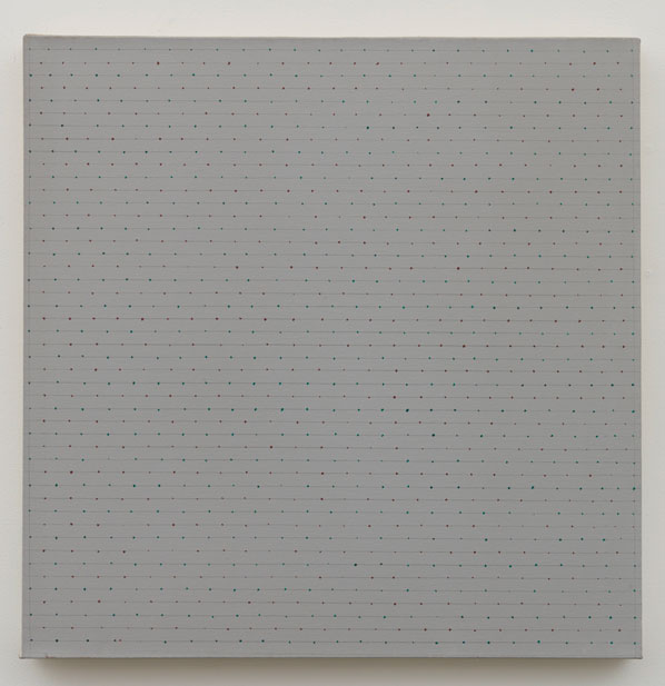 Untitled (pdn257) , 1973 oil on canvas 24.5 x 24.5""