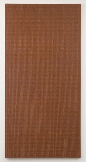 Untitled (pdn26) , 1975 oil and graphite on canvas 96 x 48""