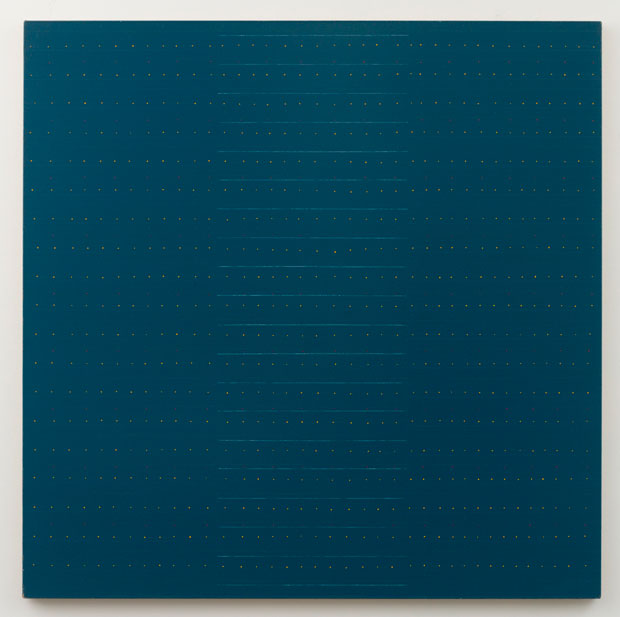 Untitled (pdn41) , 1977 oil and gesso on linen 60 x 60""