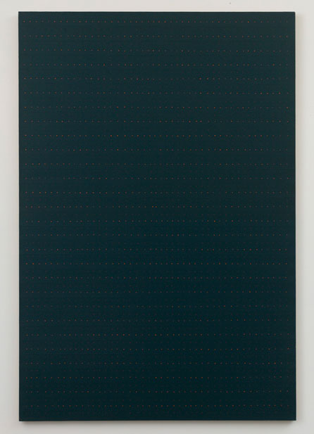 Untitled (pdn63) , 1976 oil and graphite on linen 72 x 48""