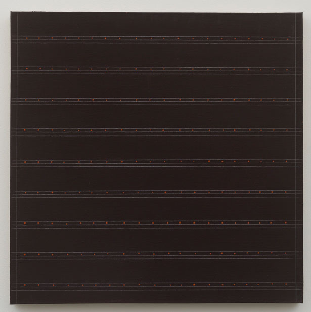 Untitled (pdn143) , 1976 oil and graphite on canvas 24 x 24""
