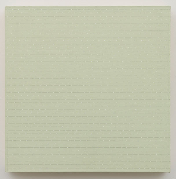 Untitled (pdn145) , 1974 oil and graphite on canvas 24 x 24""