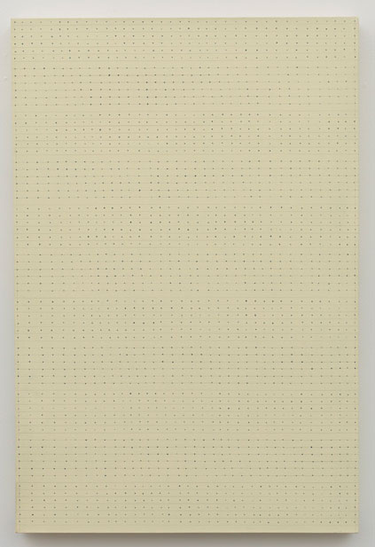 Untitled (pdn152) , 1972 acrylic and graphite on canvas 36 x 24.5""