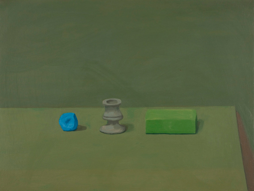 non essentials  , 2009 oil on canvas 18 1/4 x 24 inches