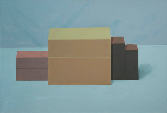 august group , 2004 oil on canvas 38 x 56 inches