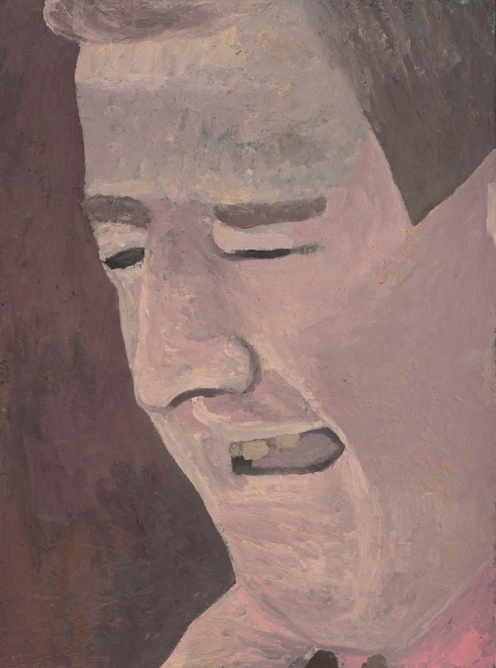crying man , 1995 oil on linen on wood 24 x 18 inches