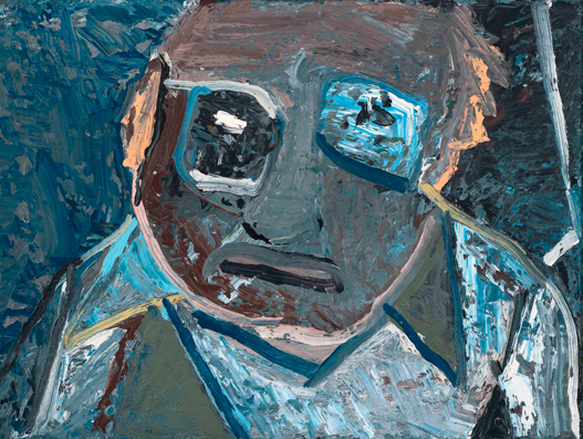 friendly face , 1984 oil on linen 18 x 24 inches