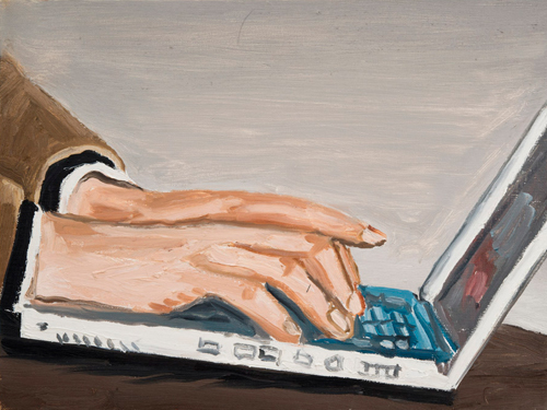 laptop , 2012 oil on Canvas 12 x 16 ""