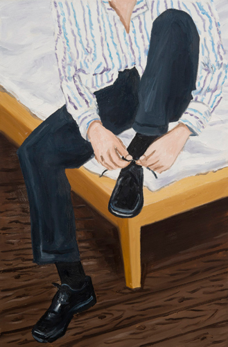 shoelace , 2012 oil on canvas 36 x 24""