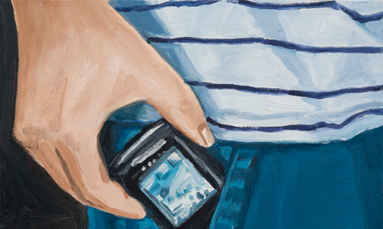 striped shirt , 2012 oil on Canvas  36 x 24""