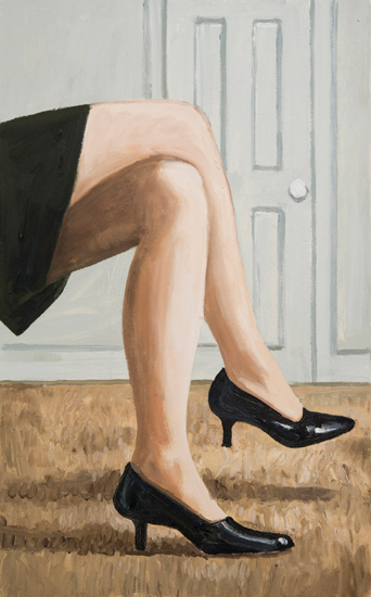 waiting , 2012 oil on canvas 32 x 20 inches