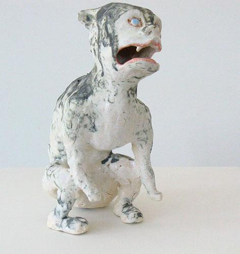dog demon , 2009 stoneware 10 x 7 x 5 inches