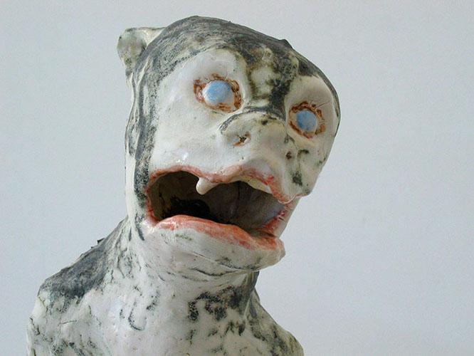 dog demon (detail) , 2009 stoneware 10 x 7 x 5 inches