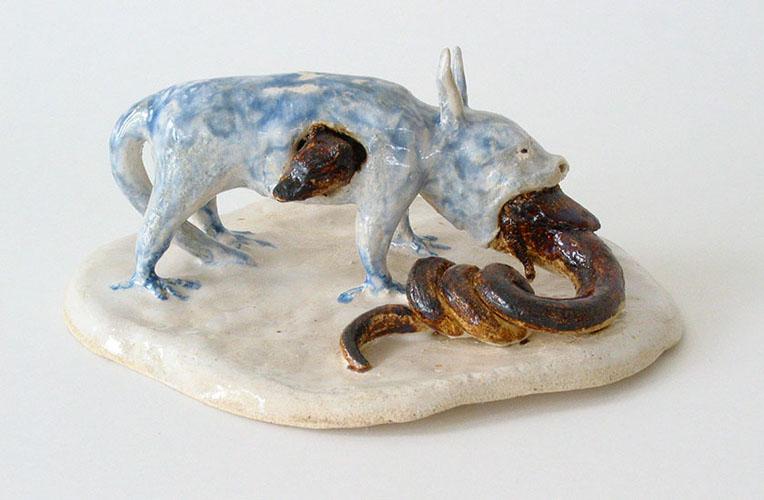 hydrus , 2009 stoneware and glaze 3 x 8 x 7 inches