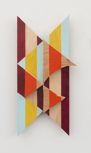 partido , 2012 acrylic on wood 15 x 6.5 x 2""