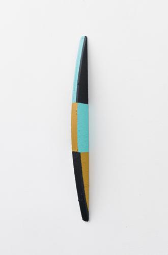 """shuffle stack , 2013 acrylic on wood 16.5 x .75 x 1.5"""""""