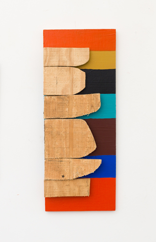 Remnant Stack,  2009 acrylic on wood 17 x 6.5 x 1.5""