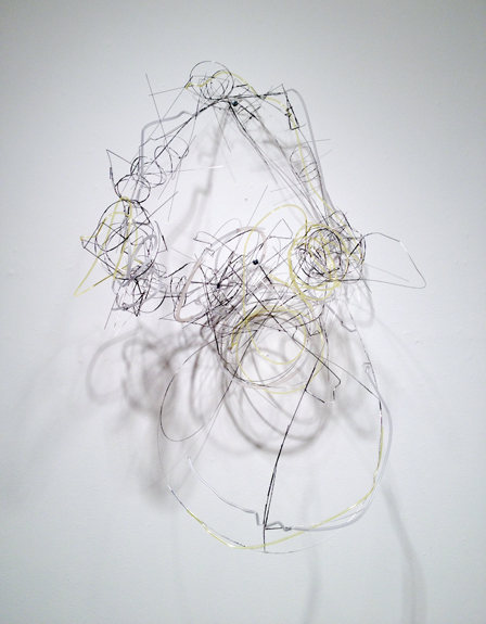 Off Road , 2012 stainless steel wire, plastic tubing 35 x 23 x 20 inches