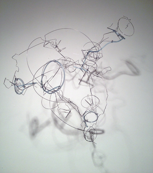 Cirrus , 2011 stainless steel wire, plastic tubing 22 ½ x 21 x 18 inches