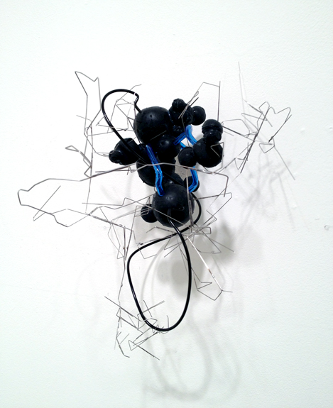 City #2 , 2012 silicone, stainless steel wire, plastic tubing 14 x 9 ½ x 9 ½ inches