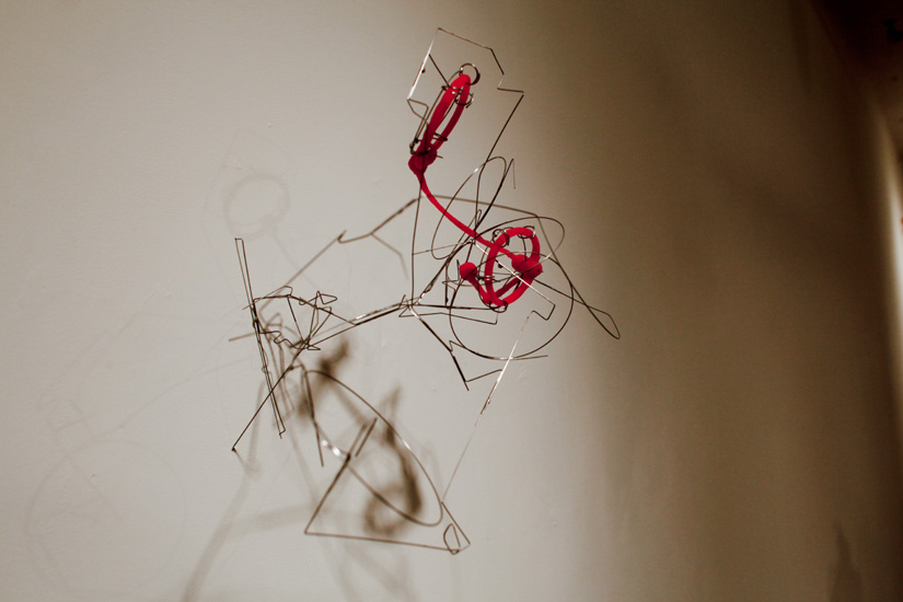 "Tangle 2 , 2010 stainless steel wire, silicone rubber  12 1/4 "" x 11 "" x 9 1/2 """
