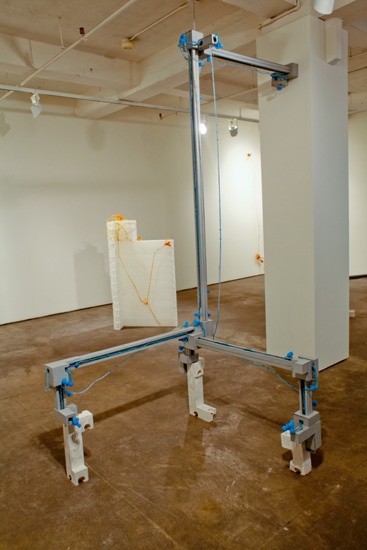 "Where I Go , 2009 archival cardboard,. hydrostone, stainless steel wire, silicone rubber  106"" x 93"" x 47"""