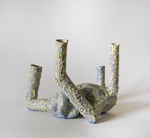 Blue Quartet , 2012 glazed ceramic  9 x 10 ½ x 10½