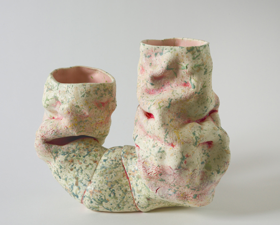 Dyad (15) , 2012 glazed ceramics 9.5 x 12 x 7 inches
