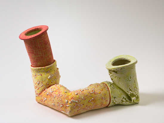 Dyad (11) , 2012 glazed ceramics 8.5 x 12 x 8 inches