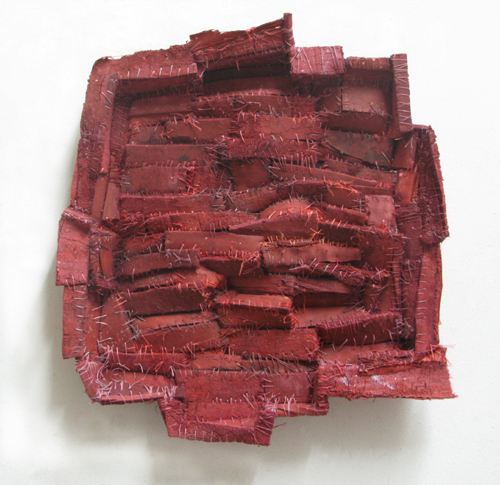 Recollection...terracotta (2),  2008 cloth, thread, acrylic paint  15 x 14 x 3 inches