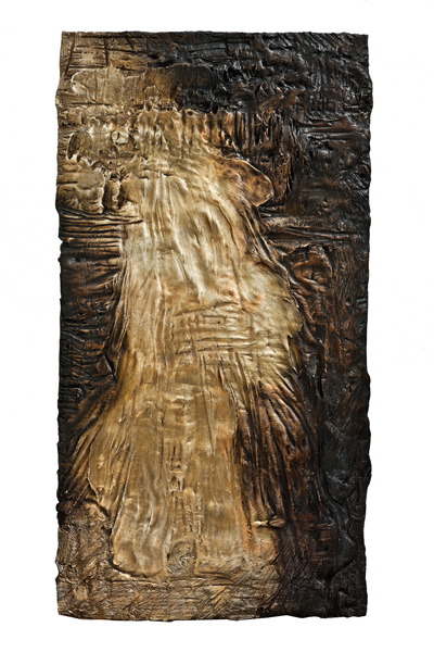 The Lily of the Field and  the Bird of the Air (I) , 2013  Bronze relief 58 × 30 inches