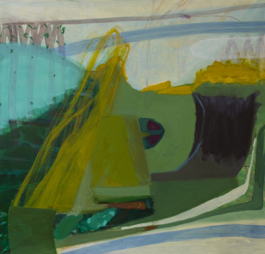 slide , 2012 oil on canvas 48 x 50""