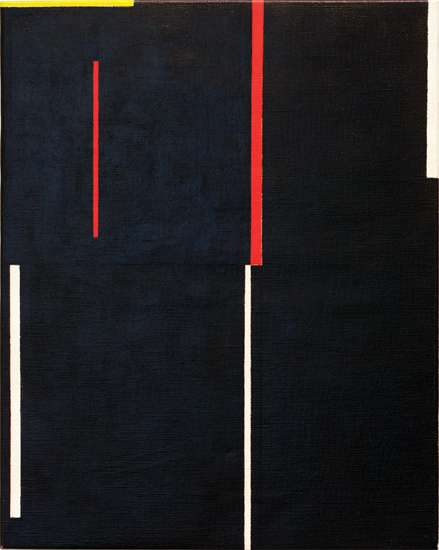 "Untitled , 2011 acrylic on canvas 19 ¾"" x 15 ¾"""