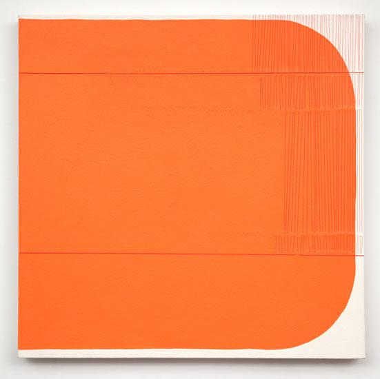"wish #4 , 2010 acrylic and thread on canvas 22 X 22"""