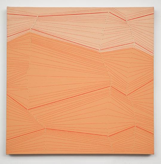 """snap #20 , 2009 acrylic and thread on canvas 24 X 24"""""""