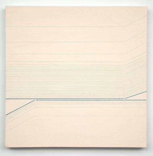 tease #4 , 2010 acrylic and thread on canvas 20 X 20""