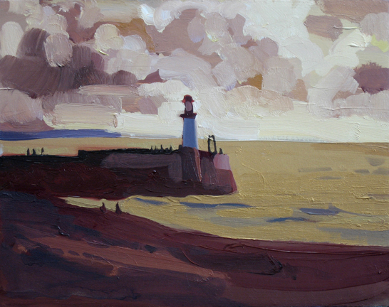 To the Lighthouse , 2008 oil and pigment on gesso panel  8 x 10 inches