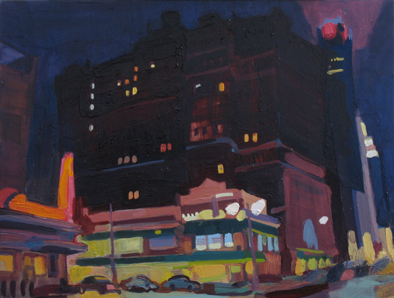 Nightlife , 2008 oil on copper 9 7/8 x 13 inches