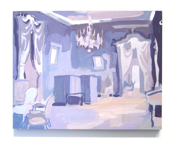 The Tsar's Reception Room, 2007 oil and pigment on board  8 x 10 inches