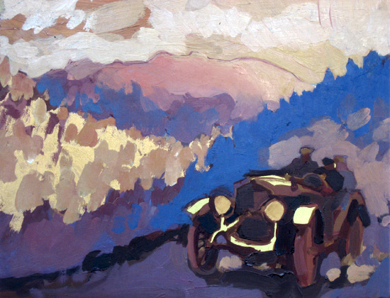 In Haste , 2008 oil and pigment on gesso panel 7 7/8 x 10 inches