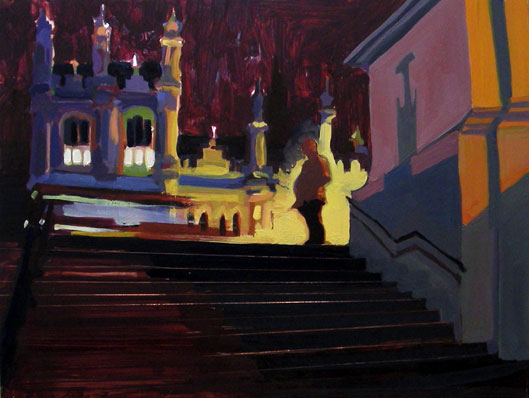 Chimes at Midnight , 2008 oil on copper 9 7/8 x 13 inches