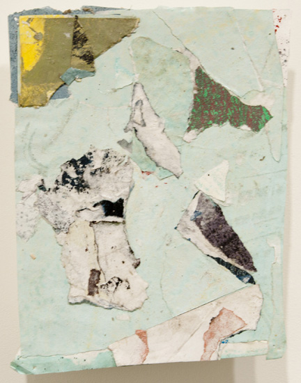 shaggy dog story , 2010 acrylic paint and pasted paper 8 1/2 x 6 1/2 inches