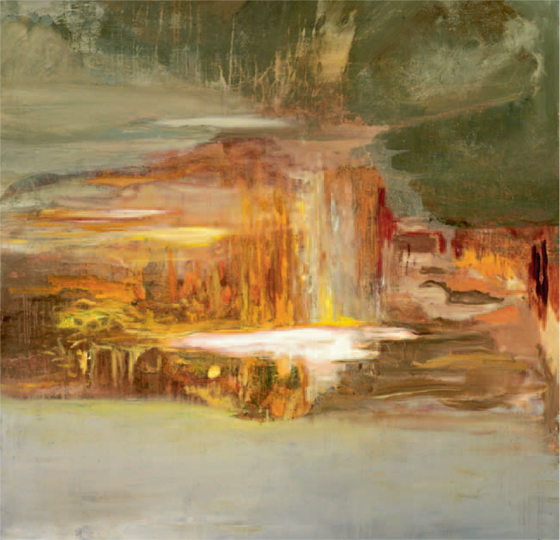 The Fourth Day (#15) , 2011 acrylic on canvas 65 × 65 inches (IV)