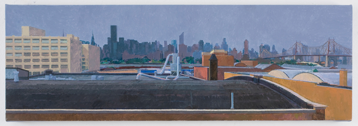 after rain , 2010 oil on linen 10 1/8 x 30 inches