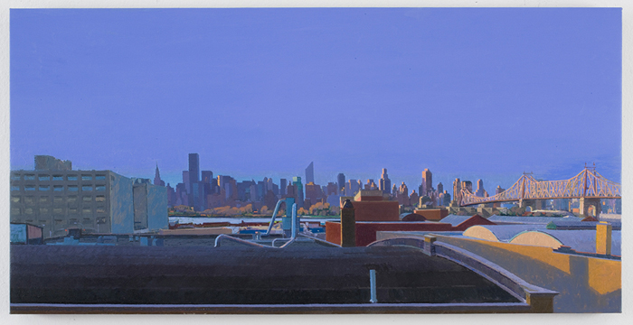 dusk , 2010 oil on linen 15 x 30 inches