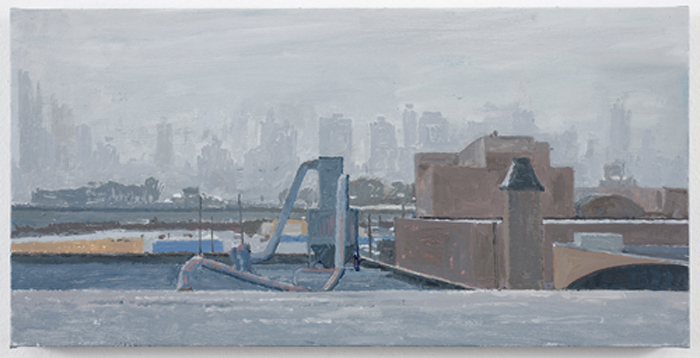 freezing fog , 2010 oil on linen 10 1/8 x 20 inches