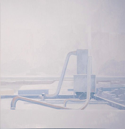 blizzard , 2010 oil on linen 50 x 48 inches