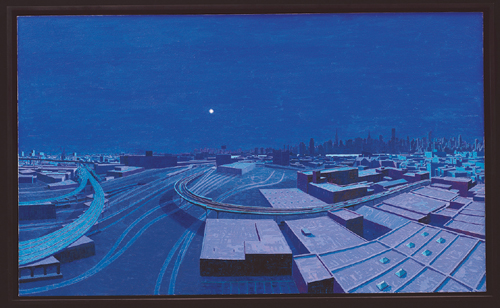 Blackout , 2004 oil on canvas  24 x 40 inches