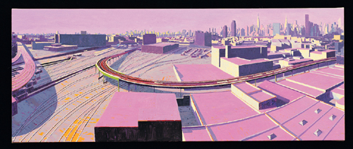 Citiywide, Morning , 2005  oil on linen 12 x 30 inches
