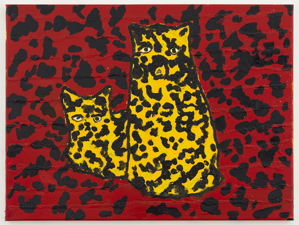 crazy cats 18 , 2017-18 oil on canvas 18 x 24 inches